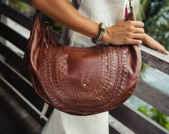 ELYSIAN COAST. Brown leather bag/ brown leather shoulder bag / leather crossbody bag / crossbody leather purse Available in different colors