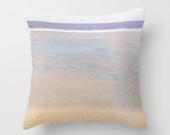 Blue pillow, blue cushion, ocean pillow, beach pillow, blue home decor, beach decor,throw pillow, scatter cushion, photography, unique
