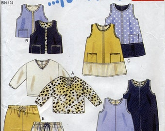 Cute play clothes separates, New Look for Kids 6024 sewing pattern, size 1/2 to 4