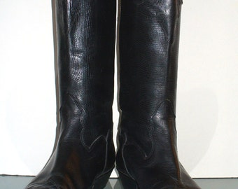 Vintage Made in Italy Joan & David Leather Boots Size 37EU