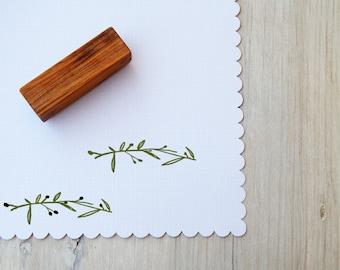 Olive Branch Olive Wood Stamp