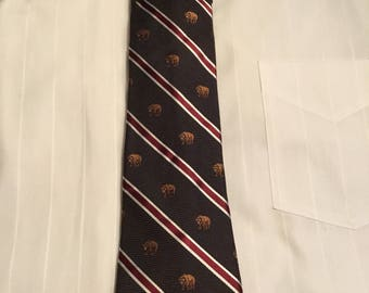 Black Brown Mens Tie