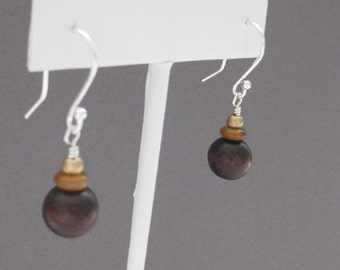 CLEARANCE Earrings, E 179, Natural and simple, sterling silver