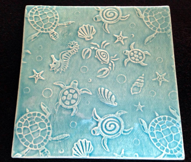 4x4 handmade nautical ceramic tile zoom dailygadgetfo Choice Image