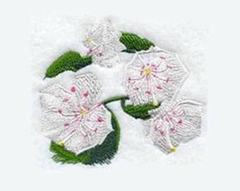 Mountain Laurel Embroidered Kitchen Towel | Bath Decor | Embroidered Towel | Personalized Kitchen Towel | Kitchen Towel | Tea Towel