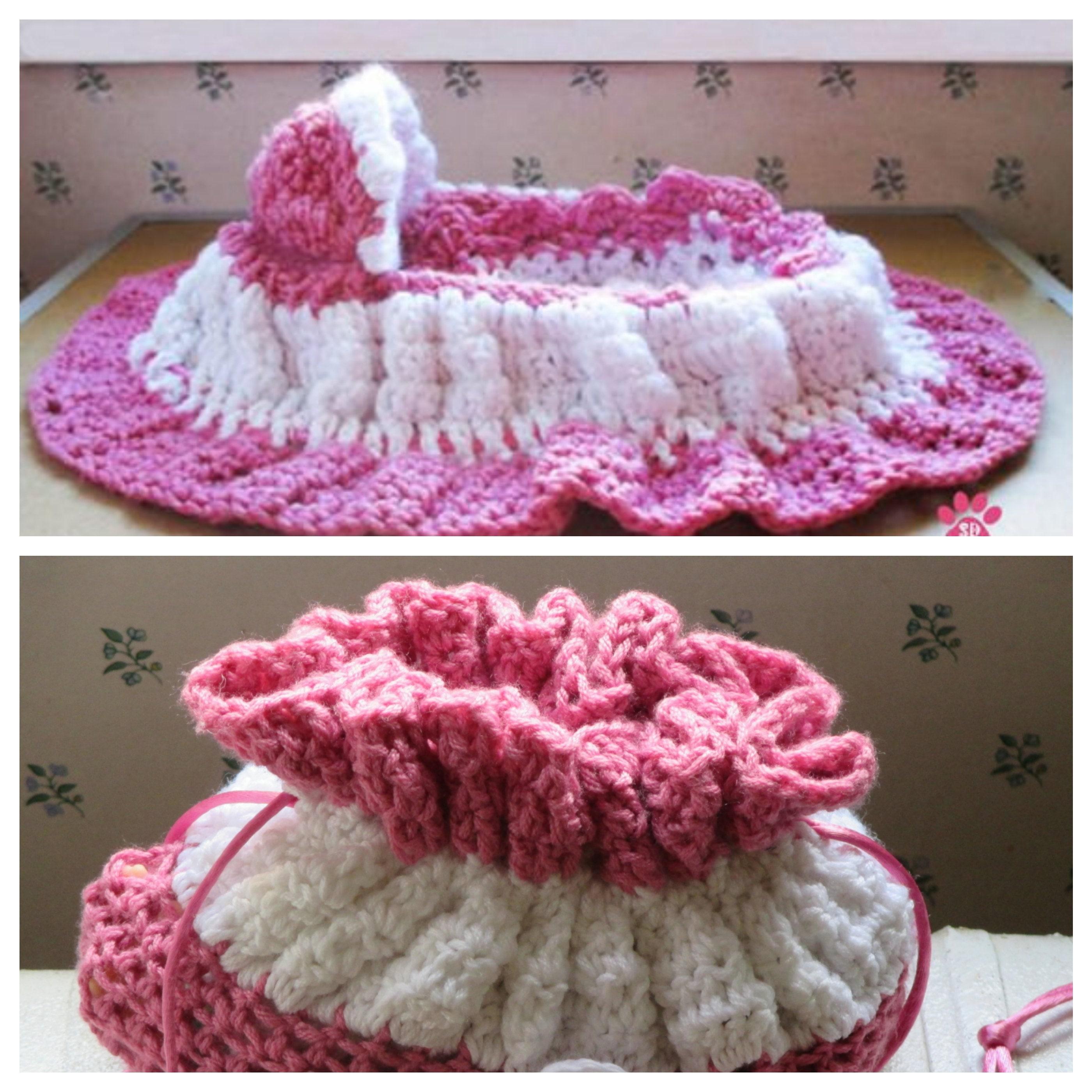 Doll Cradle Purse Girls Cotton Crochet Cradle Purse Cradle