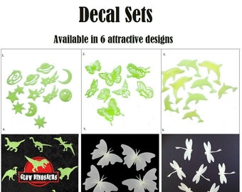 Glow in the Dark Ceiling Kits - 6 Designs Available - Choose From Universe Butterlfy Dolphin Dragonfly Dinosaur Set