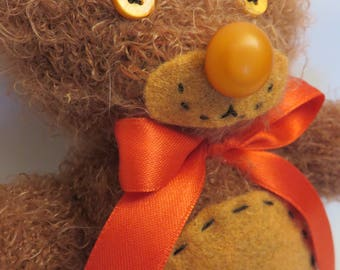 Hugh Teddy bear Plush with lavender