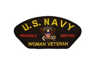 USN United States Navy Woman Veteran Patch Sailor Female