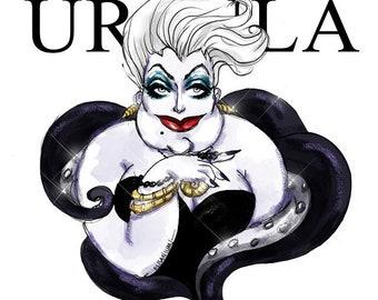 URSULA - Villains Collection, Printable Art