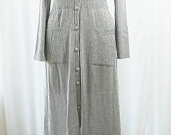 Metallic Thread Long Wool Sweater Dress Vintage G. Ferri Size 16