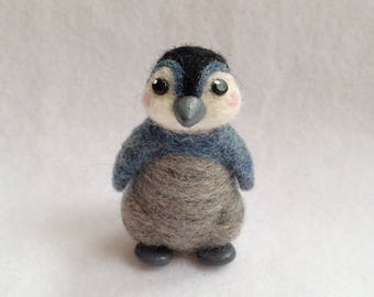 Needle Felted Baby Penguin