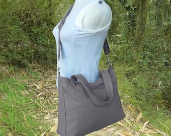 Gray canvas bridesmaid tote messenger bag men crossbody bag unisex tote bag satchel shoulder bag diaper bag handbag, womens gift