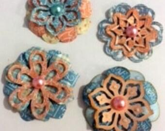 Precious Memories, Graphic 45, handmade flower embellishments for scrapbooks, cards