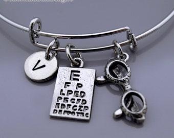 Snellen chart Bracelet, Snellen chart bangle, eye chart bracelet, eye exam, eye test, Expandable bangle, Glasses bangle, Glasses bracelet