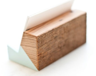 Raw Back Reclaimed Wood Business Card Holder - Limited Time