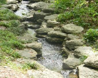 Rock water fall