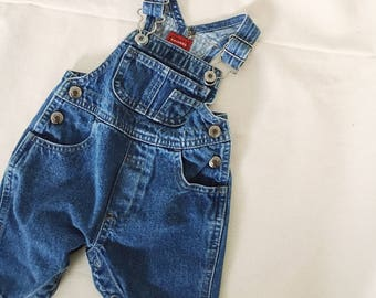 Vintage Baby Overalls // 3 Months