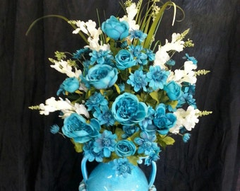 Turquoise Floral Piece