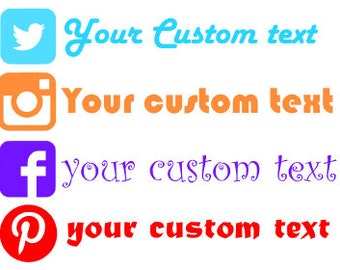 Custom Website Decal, Custom Website Logo, Social Network Decal