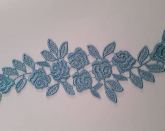 Applique lace Guipure Venice Scrapbooking Blue 1
