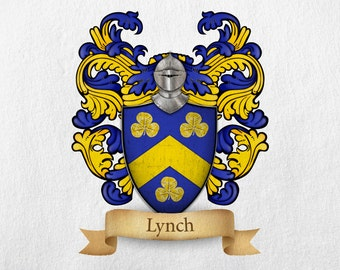 Lynch Family Crest - Print
