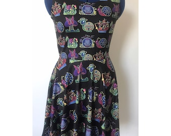 Made to Order (Ships in 6 weeks)  Main Street Electric Parade Inspired Skater Dress