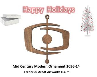 1036-14 Mid Century Modern Christmas Ornament