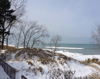 Cold day on Lake Michigan