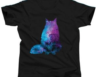 Cat Shirt - Nebula Shirt - Galaxy Shirt - Funny TShirt - Cat Lover - Cat Tshirt - Cat Tee - Mens Cat Shirt - Gift For Cat Lover - Galaxy Cat