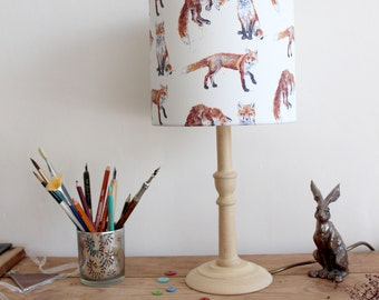 Fox Pattern Lampshade