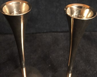 Pair of Silver Solingen German Midcentury Candlestick Holders