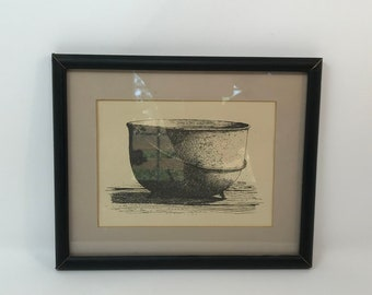 Gene Matras Print Kettle 1970s Colonial Art