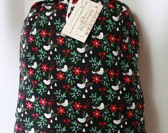 Cloth Gift Bags Fabric Gift Bags Small Reusable Eco Friendly Gift Sacks Doves Mistletoe Christmas Bags