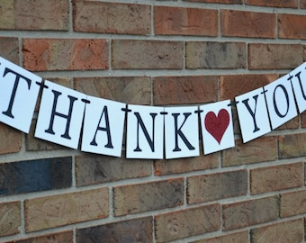 Thank you Banner  ..  Wedding Banner  ...   Photo prop