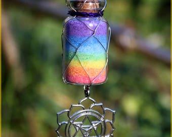 "Necklace ""Rainbow"" colored salt"