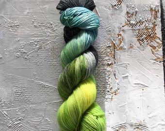 Hand Dyed Yarn - Fingering Sock Yarn - Official Sandwich Maker - merino/nylon