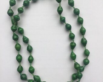 Paper Bead Necklace / Paper Bead Jewelry