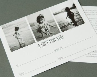 Inspire Gift Certificate - Photoshop template downloads by Photographer Cafe