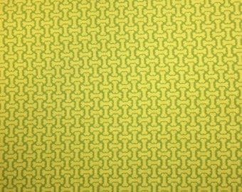 StudioE DOG PARK (LIME) - 100% Premium Cotton Quilt Fabric - Per 1/2 yd bone