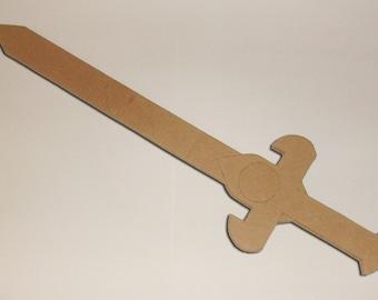 Multiple Layer Cardboard Knight's Adventure Sword