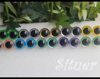 10 pairs of 8mm(9mm 10mm 12mm 15mm)colored eyes  Plastic Safety Eyes for Amigurumi