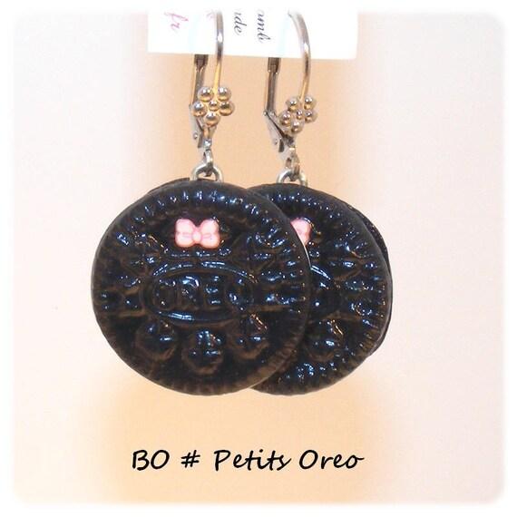 Designer earrings [small Oreo]