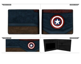 Captain Marvel Chrome Weld Wallet / Portefeuille (New, Free Shipping For Additional Products)