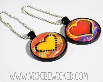 Abstract Heart, Keychains, Love Keyring