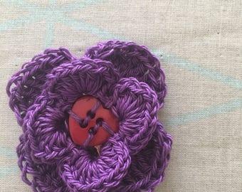 Flower Button Brooch/pin