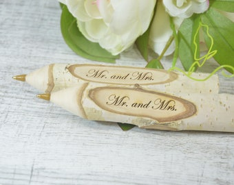 Set of 2  Personalised Twig Pen  Wooden Engraved Pen  Rustic Pen  Wedding Pen  Wedding Favours  Wooden Pen  Tree Branch Pen