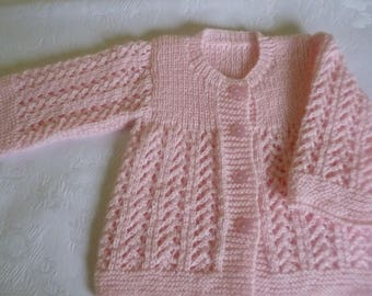 Clothing Newborn, Knit Baby Sweater, Baby Girl Sweater, Coming Home, Take Home, Baby Shower Gift, Lace Baby Sweater