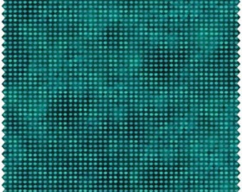 Dit Dot - Dark Teal by Jason Yenter for In The Beginning (8AH-10) Fabric Yardage