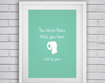 Mint Green Decor,Mint Wall Art,You Never Know What You Have Until Itu0027s
